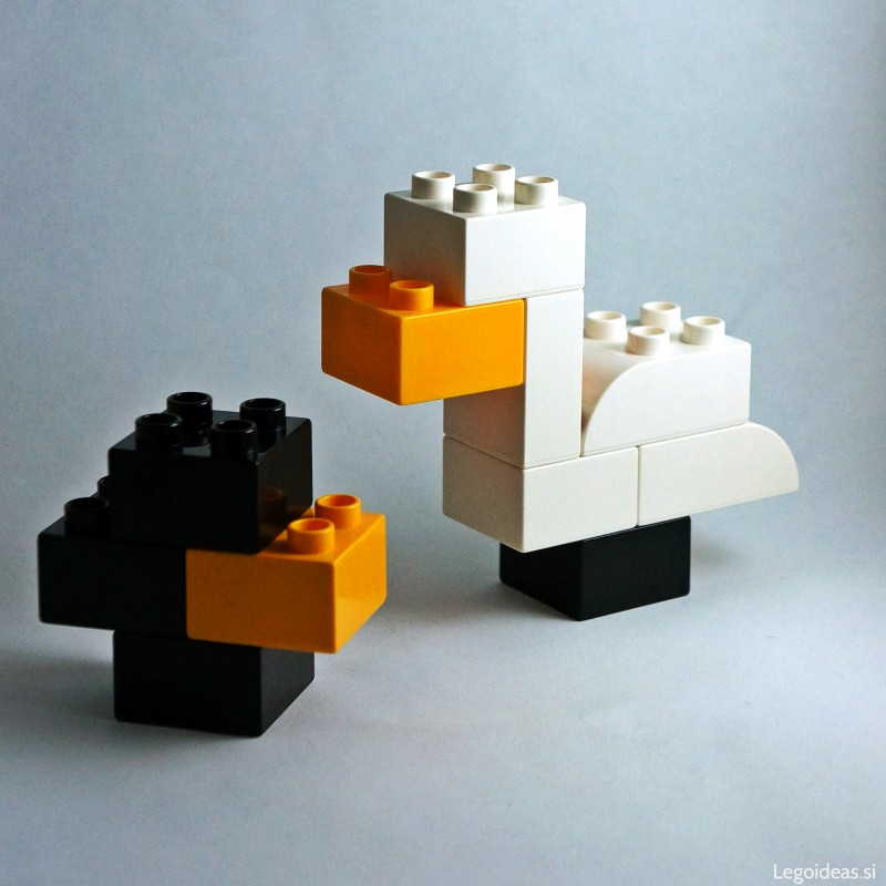 Lego Duplo Swan and the ugly duckling
